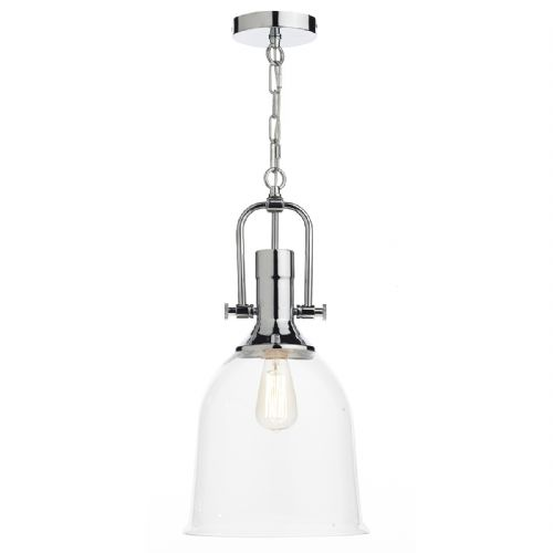 Nolan 1 Light Pendant Polished Chrome/ Clear (Class 2 Double Insulated) BXNOL0108-17